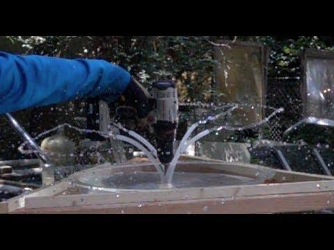 Gravity siphon above water inertia centrifugal water pump water vortex DIY WATER PUMP