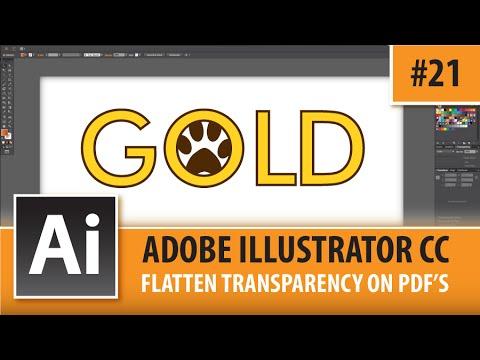 Adobe Illustrator CC 2015 - Flatten Transparency On PDF's - Episode #21