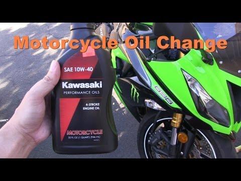 Changing the Oil & Filter of a Motorcycle - Kawasaki Ninja 636 ZX6R