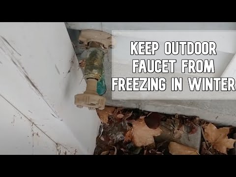 How to install outdoor faucet cover and prevent  your pipes from freezing DIY video #diy #faucet