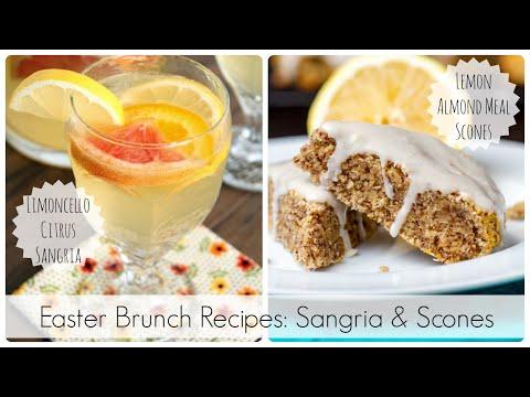 Easter Brunch Recipes - Sangria & Scones