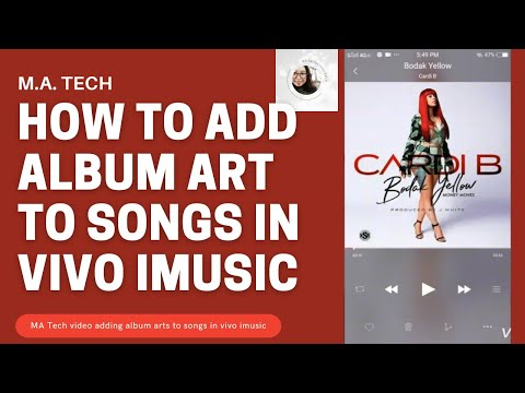 Vivo Y53: How to add ALBUM ART for your songs
