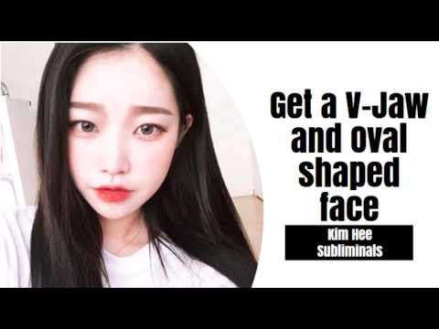 V-Shaped Jaw and Oval Shaped Face Subliminal