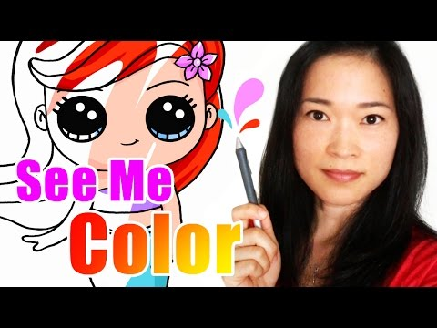 Watch How I Color My Drawings - Time Lapse Coloring w/Adobe Photoshop