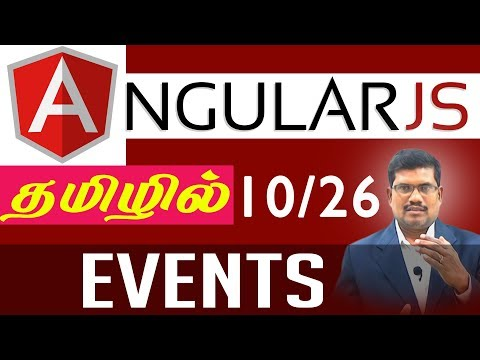 #10 Events || AngularJS Foundation in Tamil
