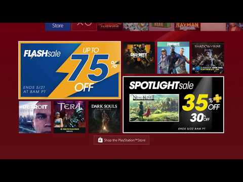 PS4 FLASH SALE 2018 MAY (CHEAP GAMES EASY Platinum)
