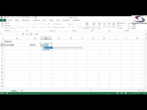 Convert dot to comma Excel