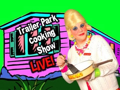 LIVE Cooking Show! Trailer Park Cooking! Orange Slice Cookies!