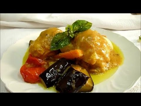 Chicken With Lemon Sauce and Vegetables. Delicious sauce for chicken
