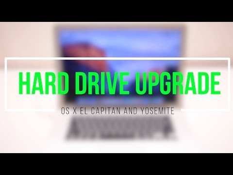 How To Upgrade a Macbook Pro Hard Drive SSD Upgrade OS X Yosemite or El Capitan