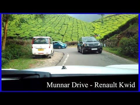 Renault Kwid Best Scenic Mountain Road Drive Part 1 - Munnar Kerala