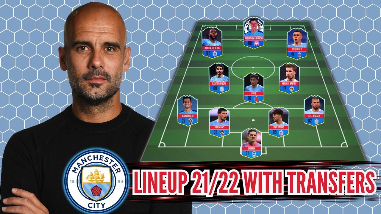 Man City Potential Lineup 21/22 With Transfers! Feat Robert Lewandowski