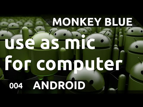 Android: how to use smartphone as microphone for PC/Mac