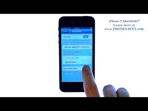 Apple iPhone 5 - iOS 6 - How do I Disable FaceTime Calls on Cellular Network - WiFi Only
