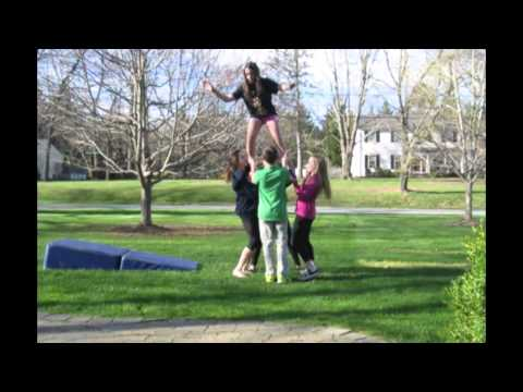 Different Kinds of Stunts to do at Home - Cheerleading
