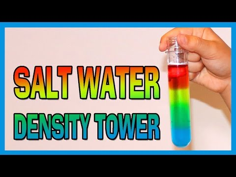 Salt Water Density Tower - EASY KIDS SCIENCE