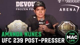 UFC 239 Post-Fight Press Conference: Amanda Nunes