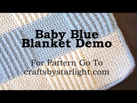 Baby Blue Afghan Demo