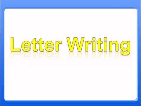 Know the Letter Writing Rules of Formal Letter Writing | English Grammar Class 8