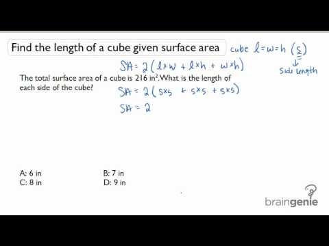 1.4.2 Find the length of a cube given surface area