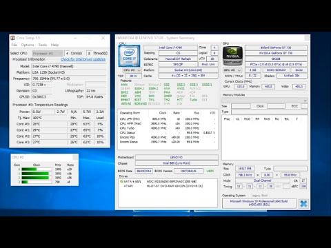 Intel Core i7 4790 CPU Temperature Heat Stress and Torture Test
