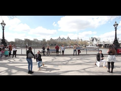 Amazing Double 'All of Me' Flash Mob Proposal - featuring 'Timber!'