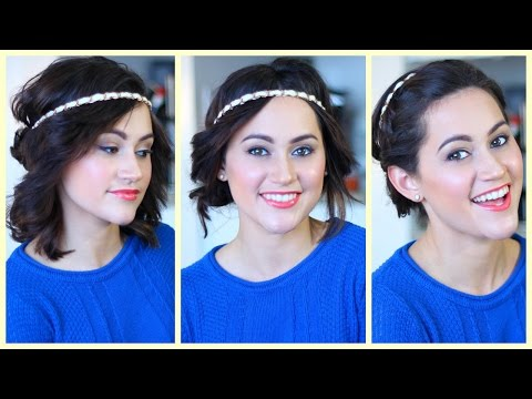 3 Hairstyles For Medium Hair Using A Headband