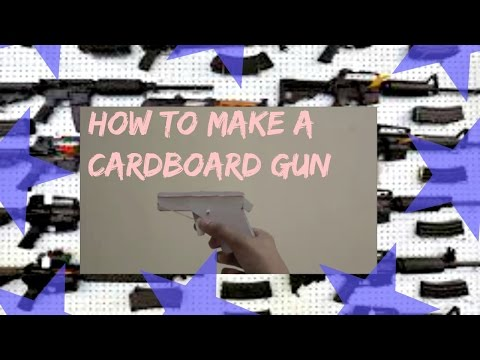 How to make a cardboard gun that shoots rubber-bands!