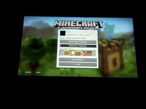 PS3 minecraft splitscreen tutorial