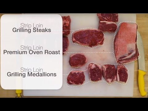 DIY Butcher Skills with Canadian Beef: Cutting Beef Striploin