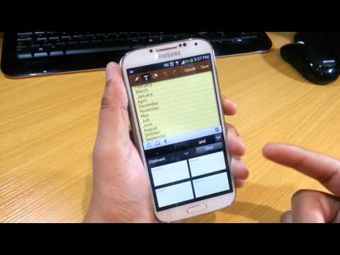 Clipboard options on Samsung Galaxy S4 Part 2