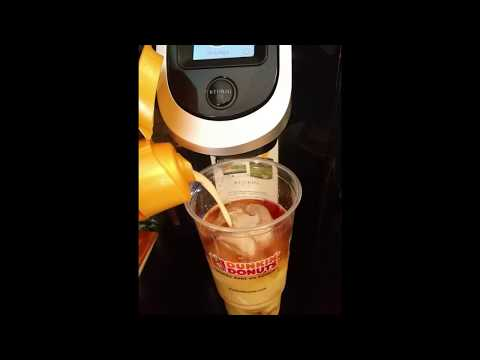 Kuerig 2.0  How To Make  Dunkin Donuts Butter Pecan Iced Coffee