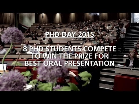 PHD DAY 2015 - Best Oral Presentation