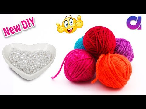 New Amazing waste  wool yarn Reuse Idea | best out of waste | Artkala 404