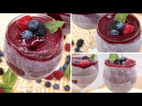 3-Ingredient Berry Wine Slushies!