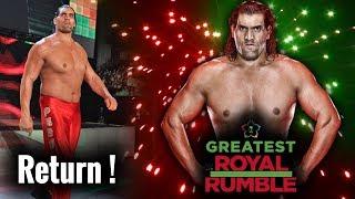The Great Khali Returns At Greatest Royal Rumble in 50 Man Royal Rumble Match in Saudi Arabia ?