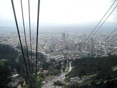 with the Teleferico up Montserrat mountain - Bogota