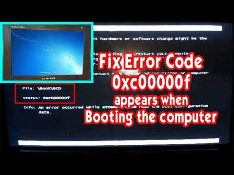 How To Fix Windows 7 Error Code 0xc00000f, Windows Failed To Start when booting, 0xc00000f windows 7