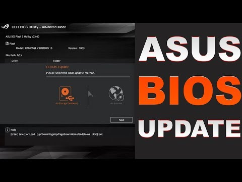 How to Update Asus Rog Rampage V Edition 10 BIOS 2018