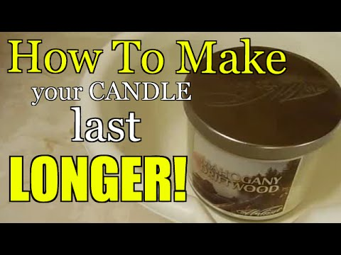 How To Make Your Candle Last Longer!