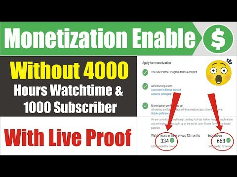 Youtube Shocked Me 🔥 Monetization enabled Without 4000 Hours Watchtime & 1000 Subscriber