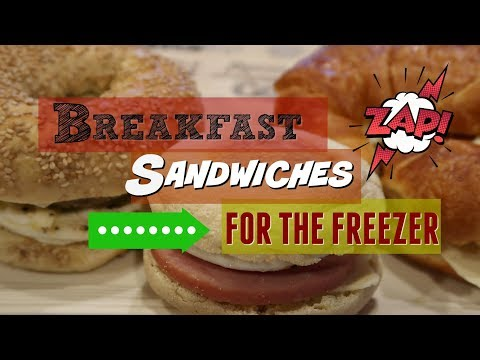 BREAKFAST SANDWICHES FOR THE FREEZER | BREAKFAST FOODS COLLAB