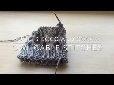 Knitting How To: Owl Cable Stitches