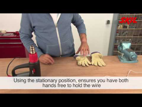 How to use a heat gun to apply heat shrink tubing?
