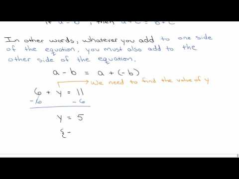 Addition and Multiplication Properties of Equality
