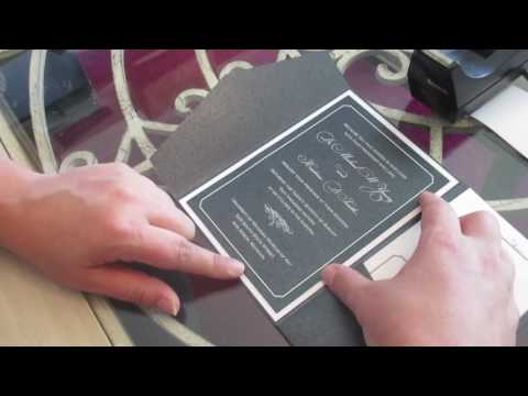 Assembling a Layered Pocket Wedding Invitation with a Belly Band