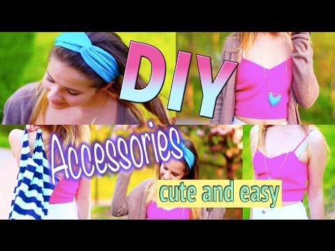 DIY Accessories: Turban Headband, T-Shirt Bag, and Chevron Necklace!
