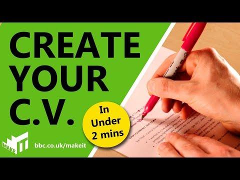 HOW TO WRITE A WINNING C.V. | BBC Make It