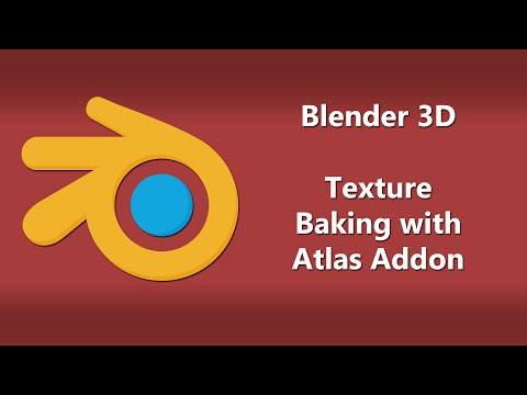 Blender 3D - Texture Baking with Atlas Addon (tutorial?)