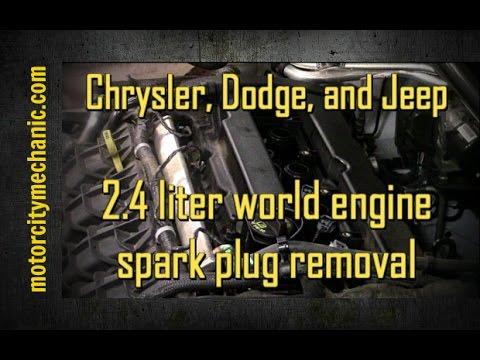 Chrysler, Dodge, and Jeep 2.4 liter world engine spark plug removal